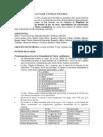 Acta Del Consejo Pastoral 04-05-2013