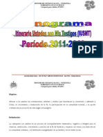 Cronograma IUSMT 2011-2013