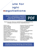 Institute for Strategic Negotiations Brochure