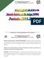 Cronograma IUSMA 2011-2013