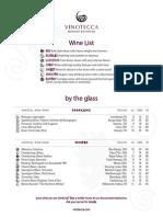 Vinotecca Wines Fall2015