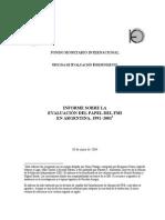 Takagi (2004) Informe Sobre La Evaluación Del Papel Del FMI en Argentina 1991-2001