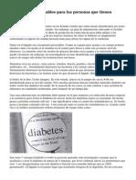 10 alimentos saludables para las personas que tienen Diabetes