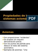 Propiedades de Los Sistemas Axiomáticos