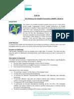 A4HP-IPSF Call for Internships