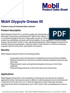 Mobil Glygoyle Grease 00 | Lubricant | Manmade Materials