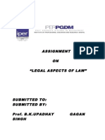 "Assignment on ""legal Aspects of Law"""