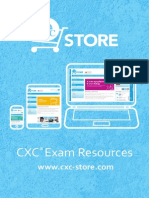 CXC Store Exam Resources