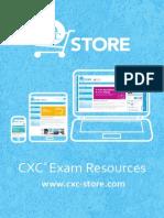 CXC Store Exam Resources