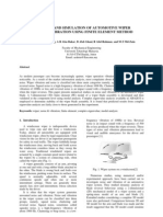 Modeling and Simulation of Automotive Wiper Noise and Vibration ...
