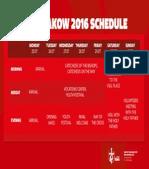 Wyd Krakow 2016 Schedule - En