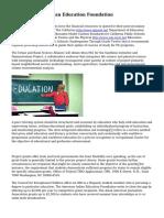McCarthey Dressman Education Foundation