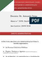 ESTRUTURA ORGÂNICA DA ADMINISTRAÇÃO PÚBLICA