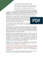 Especificaciones Del Terreno Por Reglamento del DF
