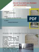 Pisos de Concreto Estampado