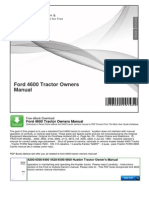 Ford 4600 Tractor Owners Manual