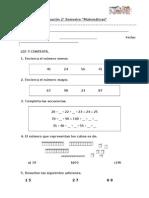 Evaluación segundo matematicas
