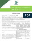 Convocatoria Prácticas Profesionales y Voluntariado 2015-2016