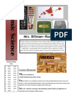 forensic science syllabus 2014-2105