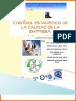 Control Estadístico de La Calidad de La Empresa Agua Vida