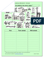 678 Vocabulary Worksheet Animals
