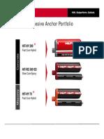 2013 Hilti Adhesive Anchor Portfolio