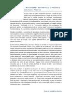 Weber. Escritos Políticos. Flavia P. B. Martins. Paper Aula 6