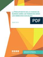 Presupuesto y Derechos Sociales en la Ciudad de Buenos Aires