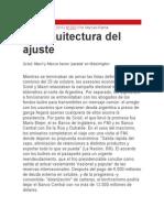 La Arquitectura Del Ajuste - Por Marcelo Ramal