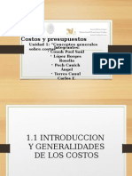 Unidad 1 Conceptos Generales Sobre Costos....