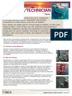 Rov Pilot Technician Fact Sheet