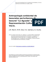 Antropología Ambiental de Basulares Periurbanos