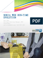 Nokia Web Run - Time Evolution