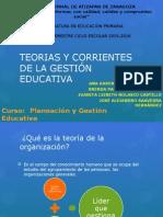 Teorias y Corrientes de La Gestión Educativa