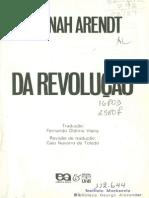 Da Revolução - Hannah Arendth
