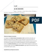 Alegrías de Amaranto - Recetasgratis.net