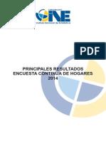 Principales Resultados ECH 2014