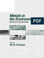 Metals in the Environment Analysis