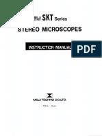 Microscope Meiji SKT Manual