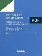 Transparencia y análisis presupuestario de las políticas de salud mental con enfoque de derechos