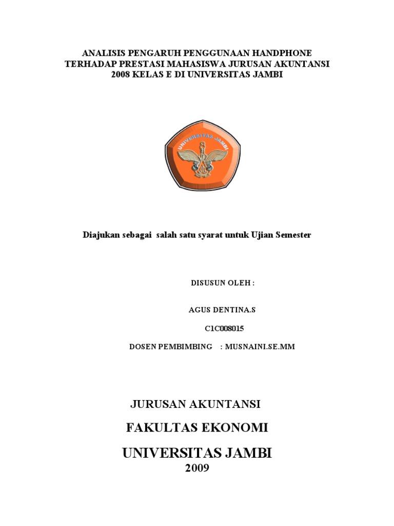 Contoh Proposal Skripsi Pendidikan Ekonomi Akuntansi Kumpulan Berbagai Skripsi