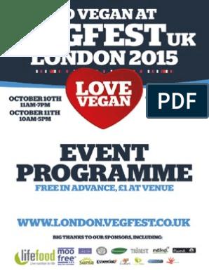 London Vegfest - Event Programme | Dietitian | Nutrition