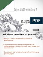 Do You Hate Mathematics