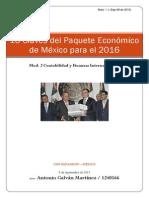 16 Claves Del Paquete Económico de México Para El 2016