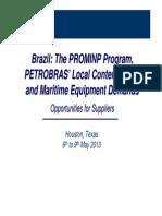 BrazilThe PROMINP Program Petrobras