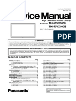 TH50VX100E service manual
