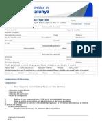 Formulario Unicatalunya