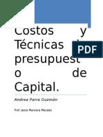 Costos y Técnicas de presupuesto de Capital PARRA.docx