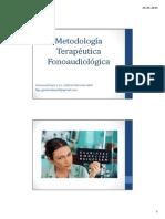 Metodología Terapéutica Fonoaudiológica