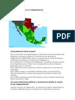 Territorio de México Al Independizarse
